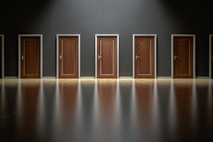 Making business decisions can be like choosing what's behind door number one.