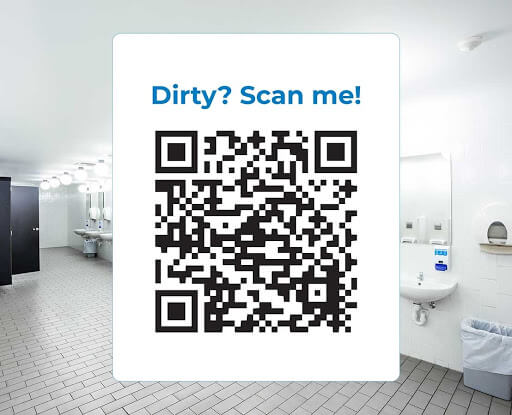 Post QR codes in the areas you serve. Building patrons can then scan it with their mobile device and talk directly with your team.